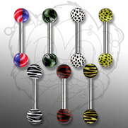 Barbell w/ Pattern Printed Ball