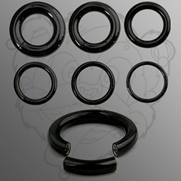 Titanium Plated Over 316L Surgical Stainless Steel Segment Rings