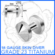 Grade 23 Solid Titanium Skin Diver with 3mm Cone Top