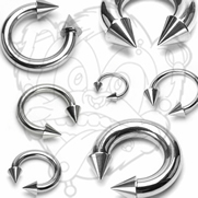 316L Surgical Stainless Steel Circular Barbells with Spikes