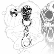 Labret Skull/Handcuff