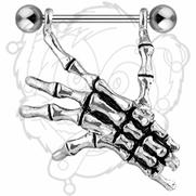 Nipple Shield w/Skull Hand