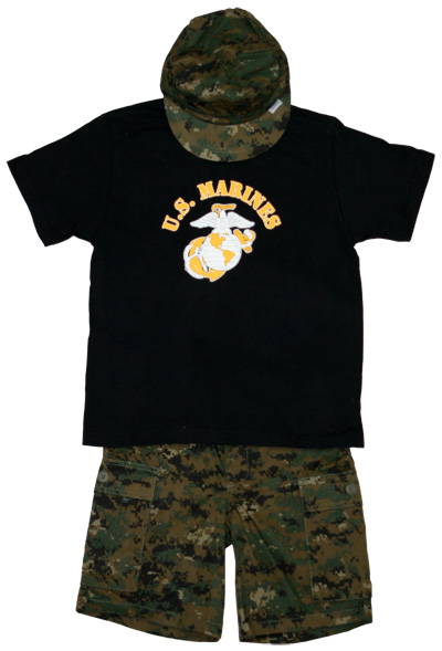 Child s Woodland Camo Short Set