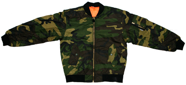 Youth Woodland Camouflage MA-1 Flight Jacket